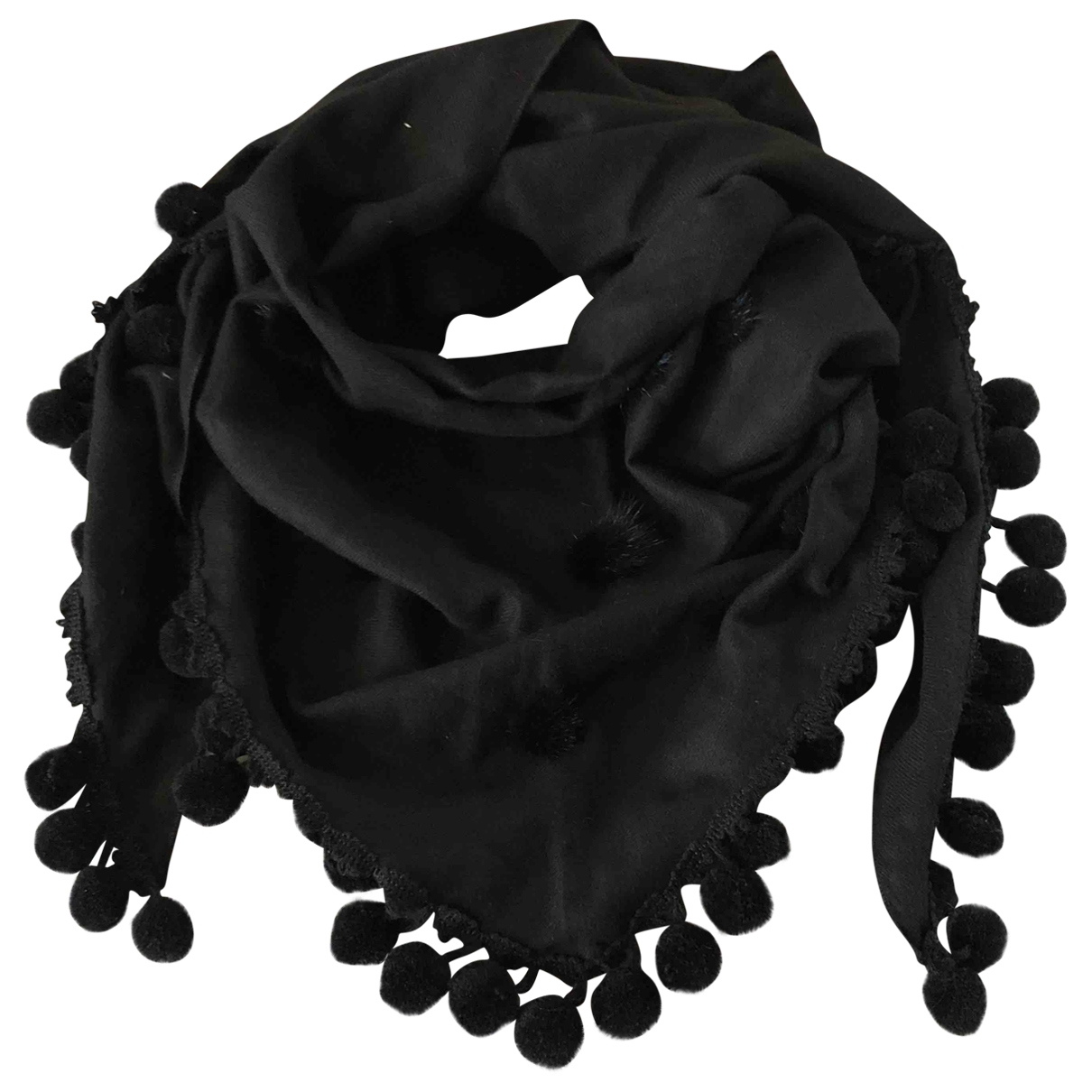 Non Signé / Unsigned \N Black Wool scarf for Women \N
