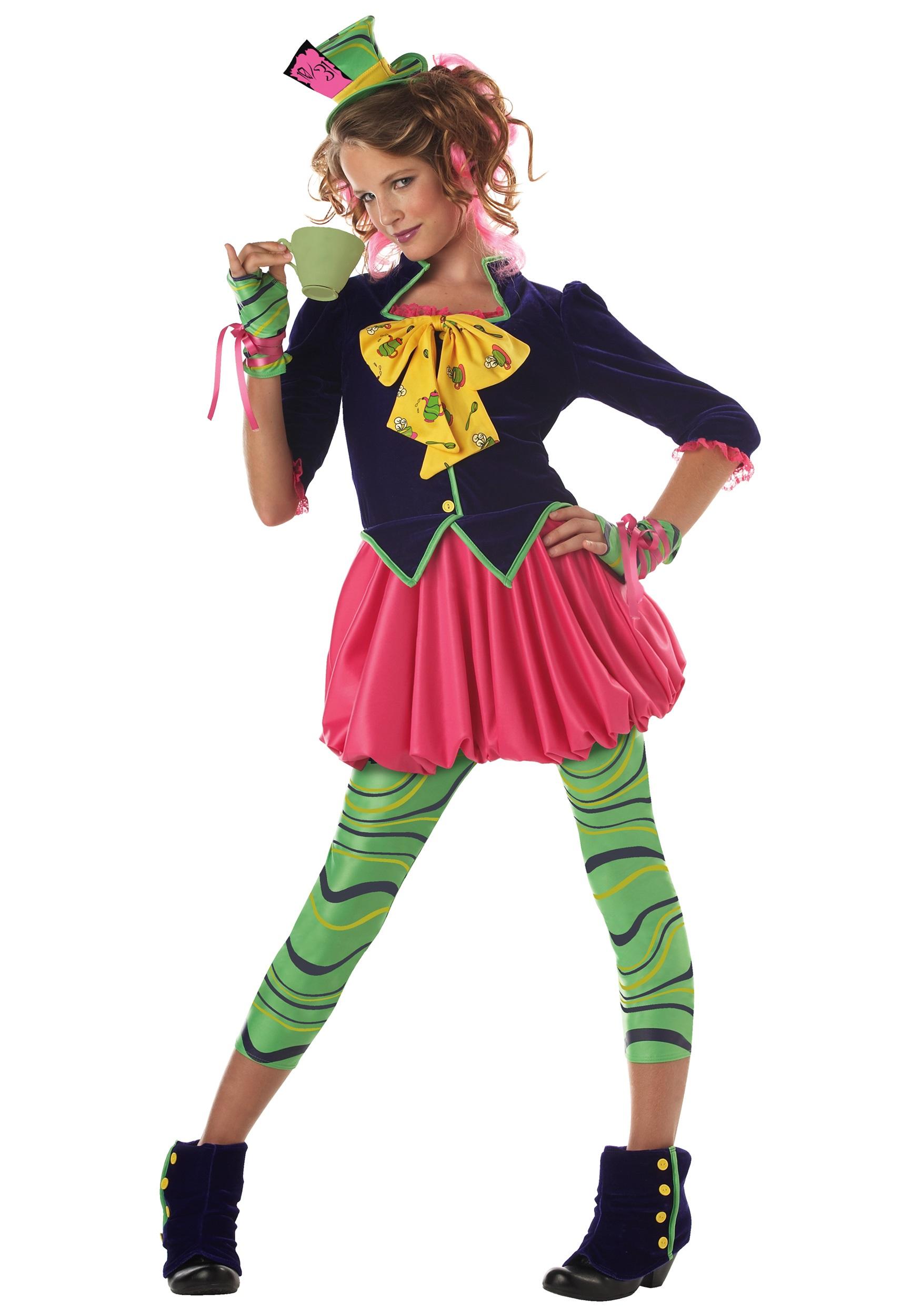 Tween Miss Mad Hatter Costume   Wonderland Costumes