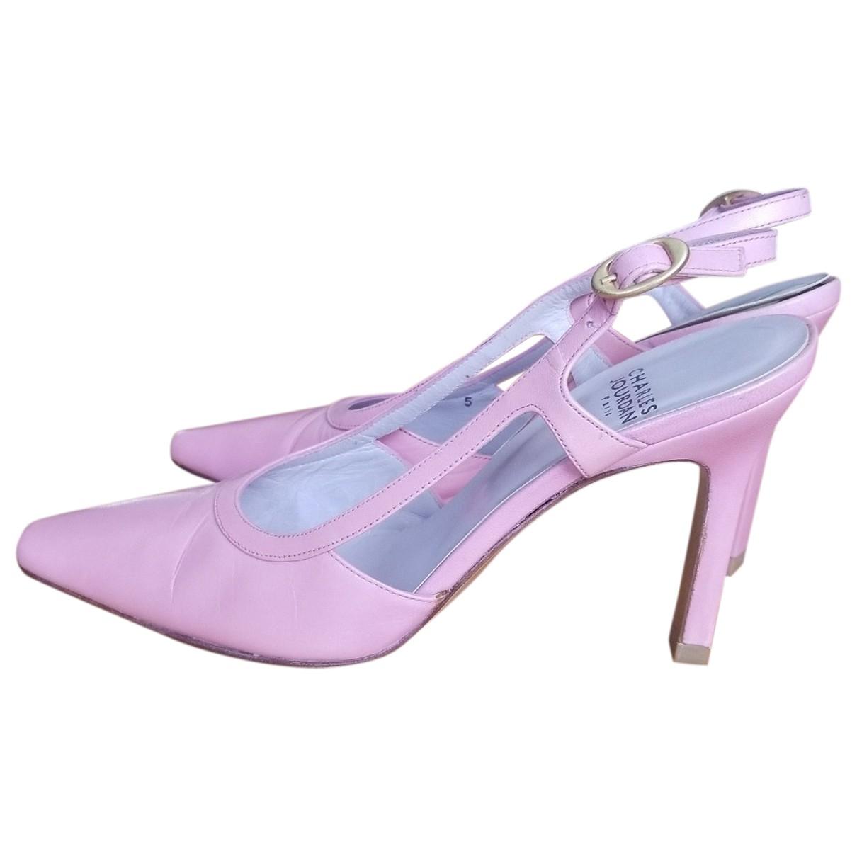 Charles Jourdan \N Pink Leather Heels for Women 5 US