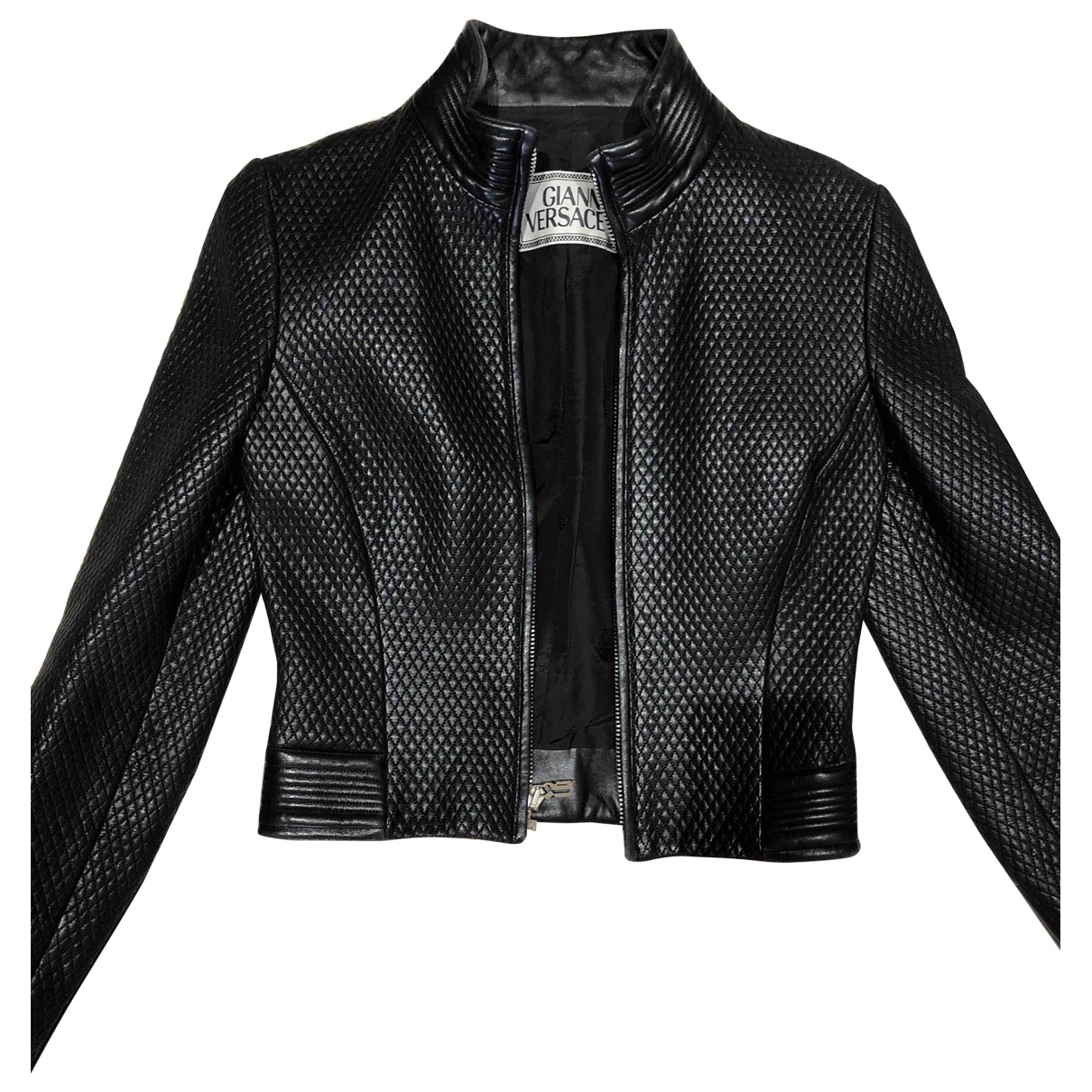 Gianni Versace \N Black Leather jacket for Women S International