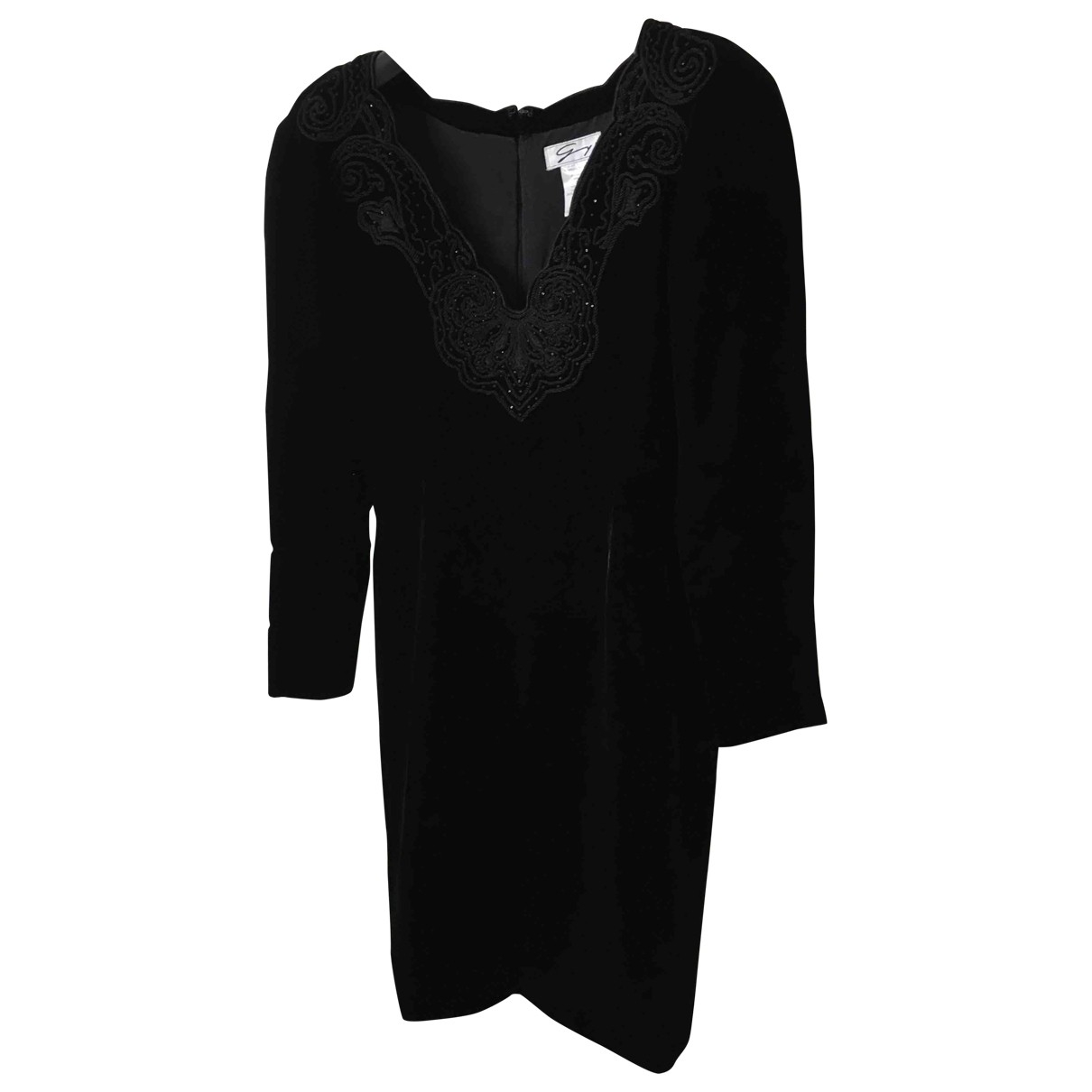 Genny \N Black Velvet dress for Women 44 IT