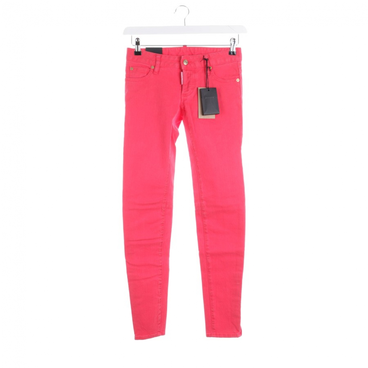 Dsquared2 \N Red Cotton Jeans for Women 32 FR