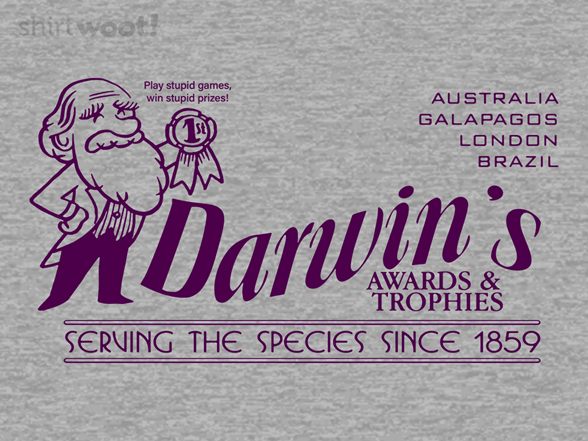 Darwin's Awards And Trophies T Shirt