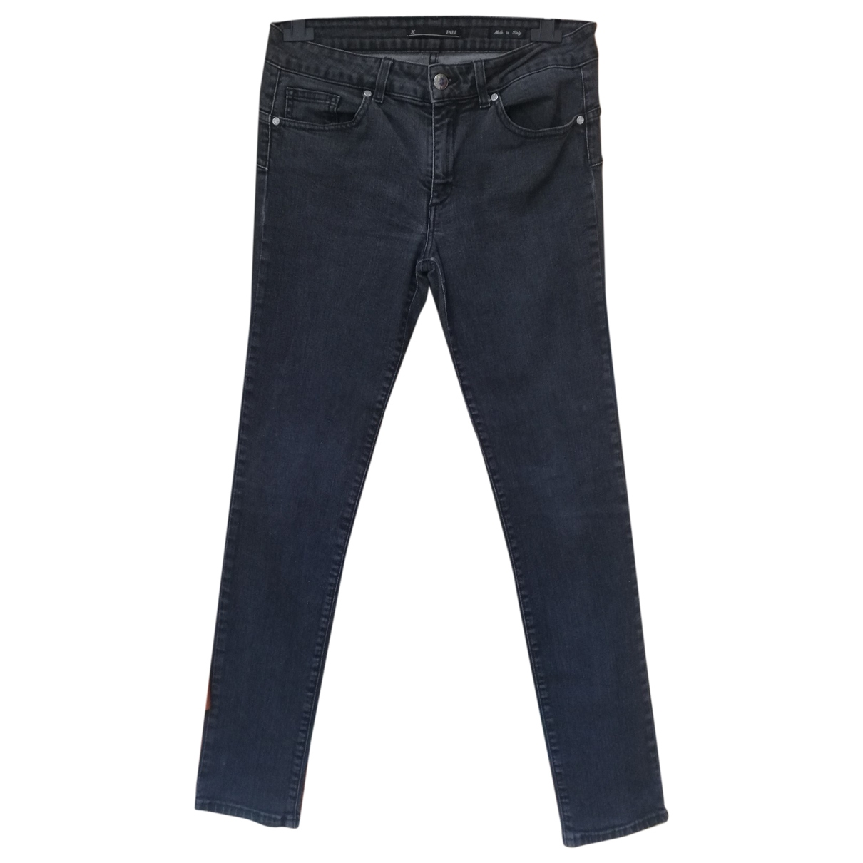 Non Signé / Unsigned \N Anthracite Cotton - elasthane Jeans for Women 30 US