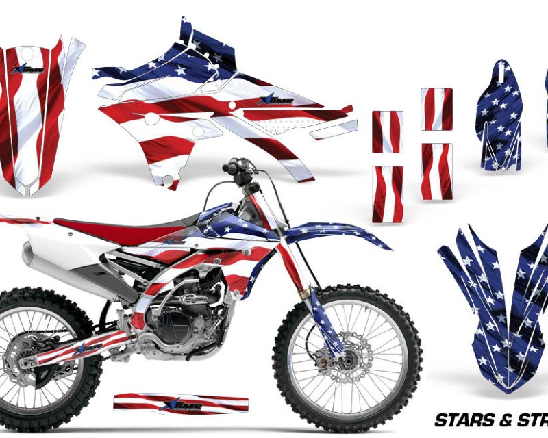 AMR Racing Dirt Bike Graphics Kit Decal Sticker Wrap For Yamaha YZ250F YZ450F 2014-2017áUSA FLAG