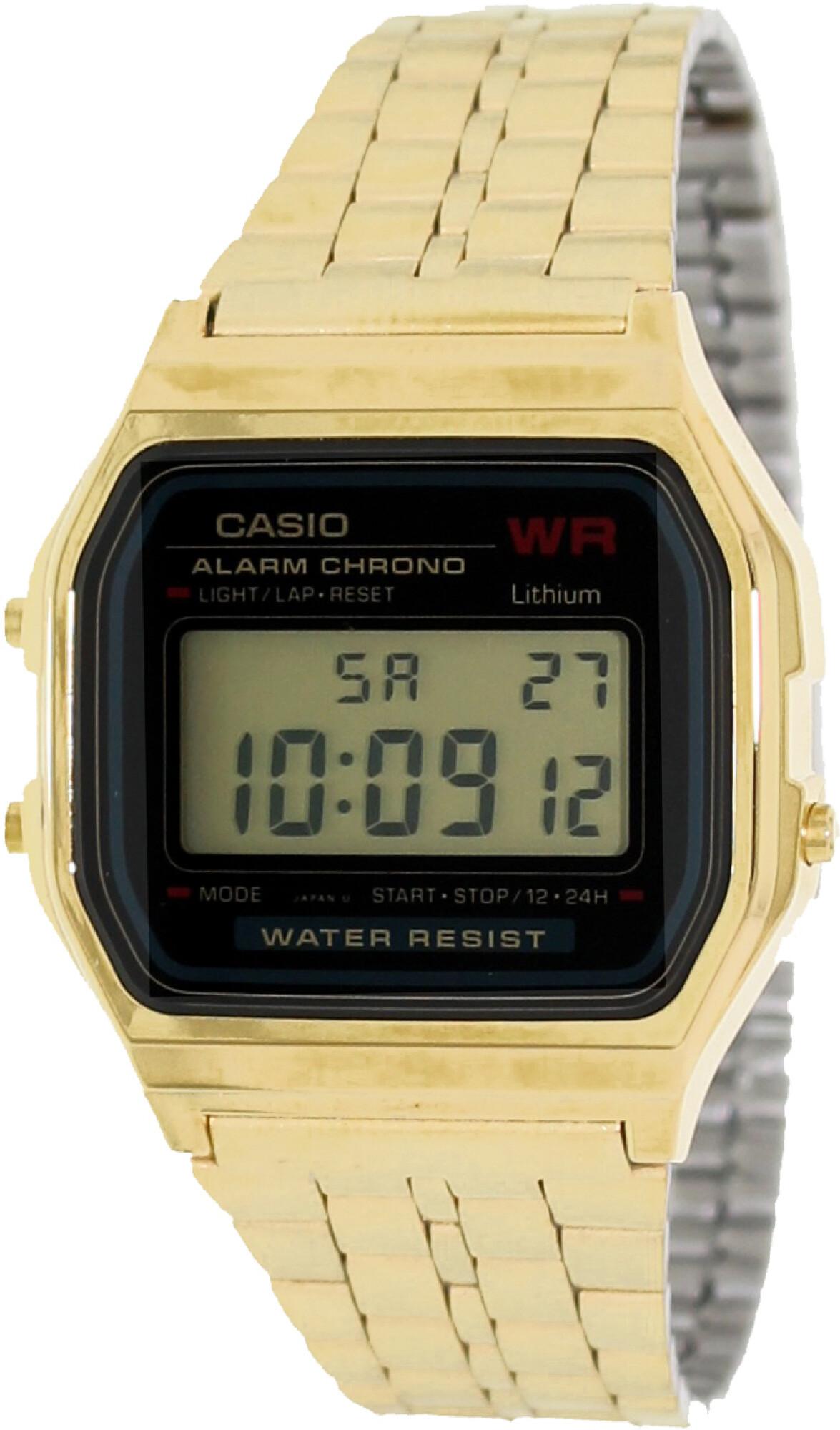 Casio Men's Core A159WGEA-1 Gold Stainless-Steel Quartz Fashion Watch