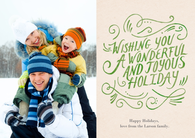 Holiday Photo Cards 5x7 Cards, Premium Cardstock 120lb, Card & Stationery -Joyous Holiday