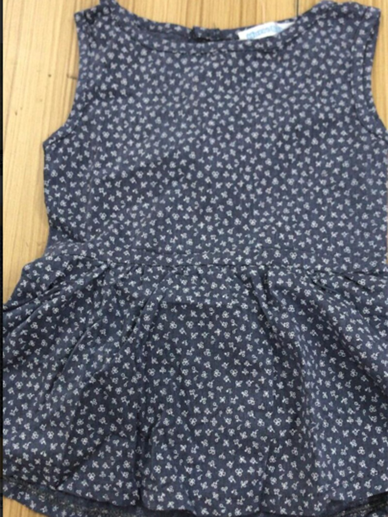 Ericdress Pleated Print Baby Girl's Cotton Casual Dress