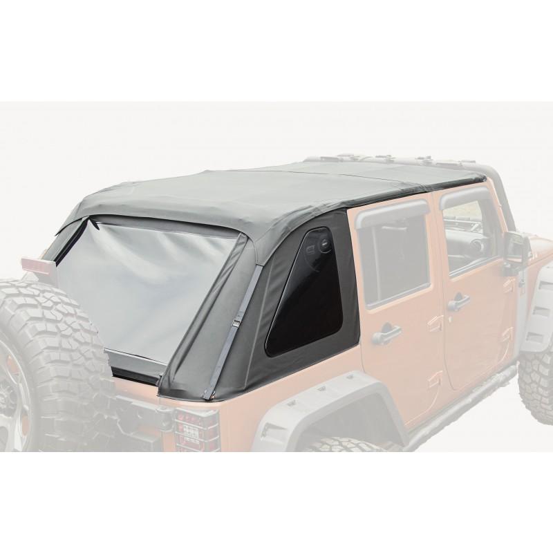 Rugged Ridge 13750.38 Bowless Soft Top, Black Diamond; 07-18 Jeep Wrangler JKU, 4 Door Jeep Wrangler 2007-2018