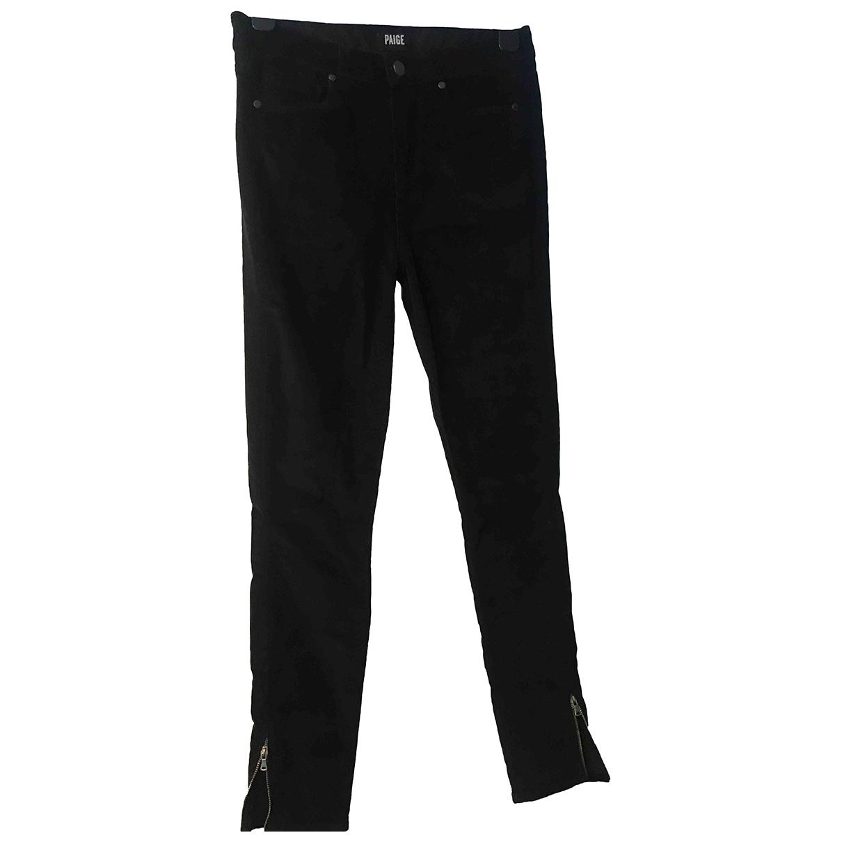 Paige Jeans \N Black Cotton - elasthane Jeans for Women 27 US