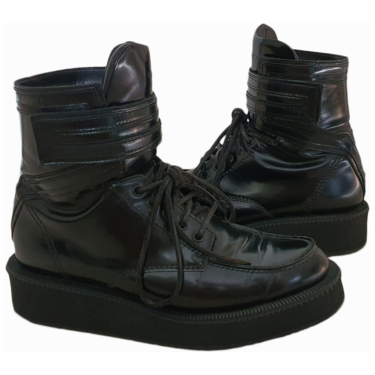 Givenchy \N Black Patent leather Boots for Men 43 EU