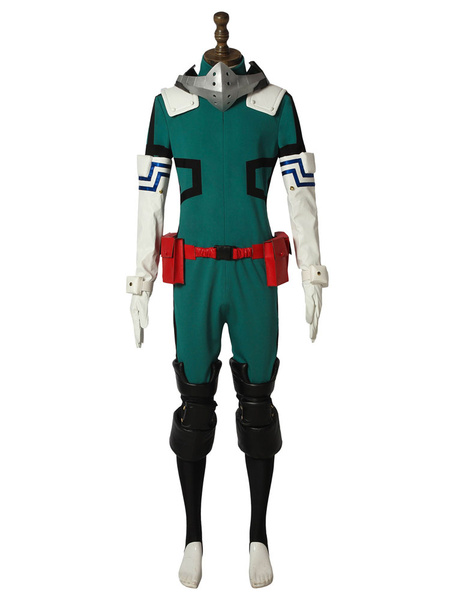Milanoo Deku Cosplay Boku No Hero Academia Midoriya Izuku Halloween Cosplay Costume Battle Suit New Version