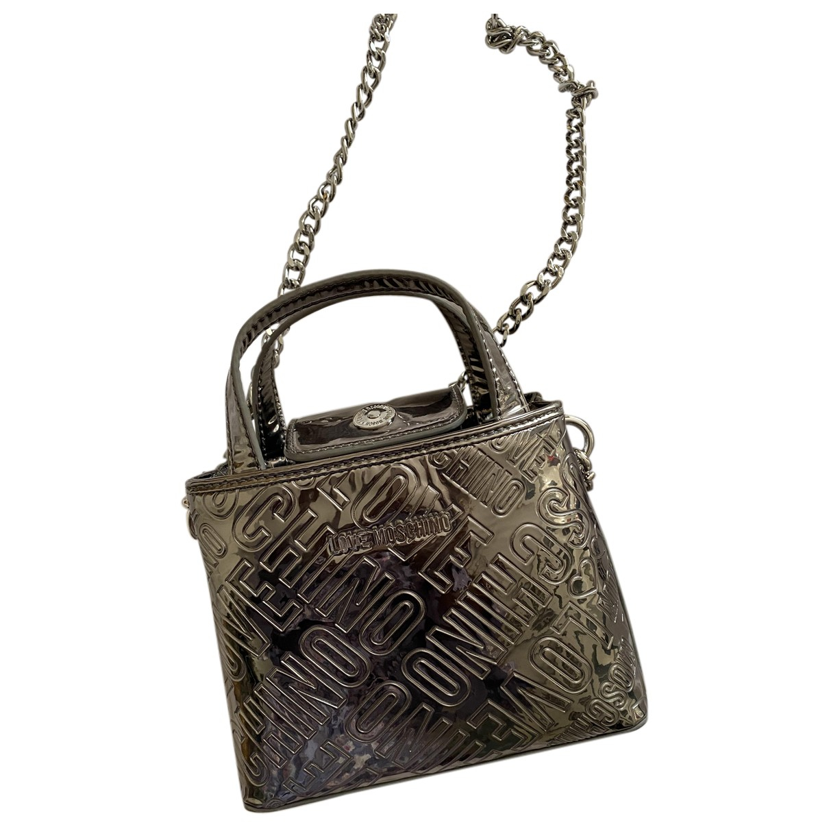 Moschino Love \N Silver Leather handbag for Women \N