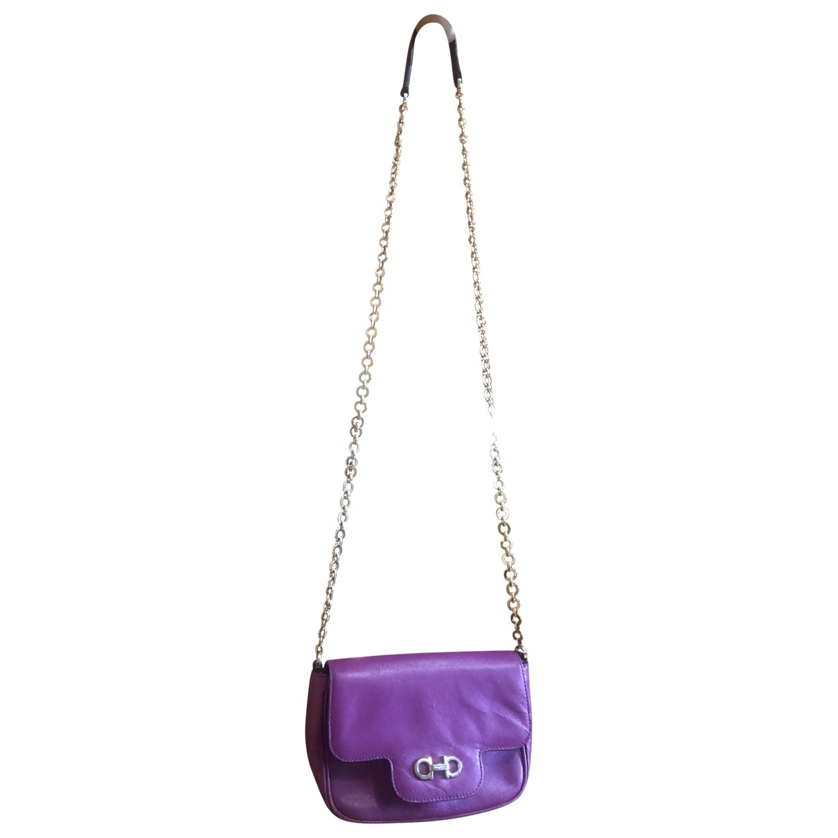 Salvatore Ferragamo \N Purple Leather handbag for Women \N