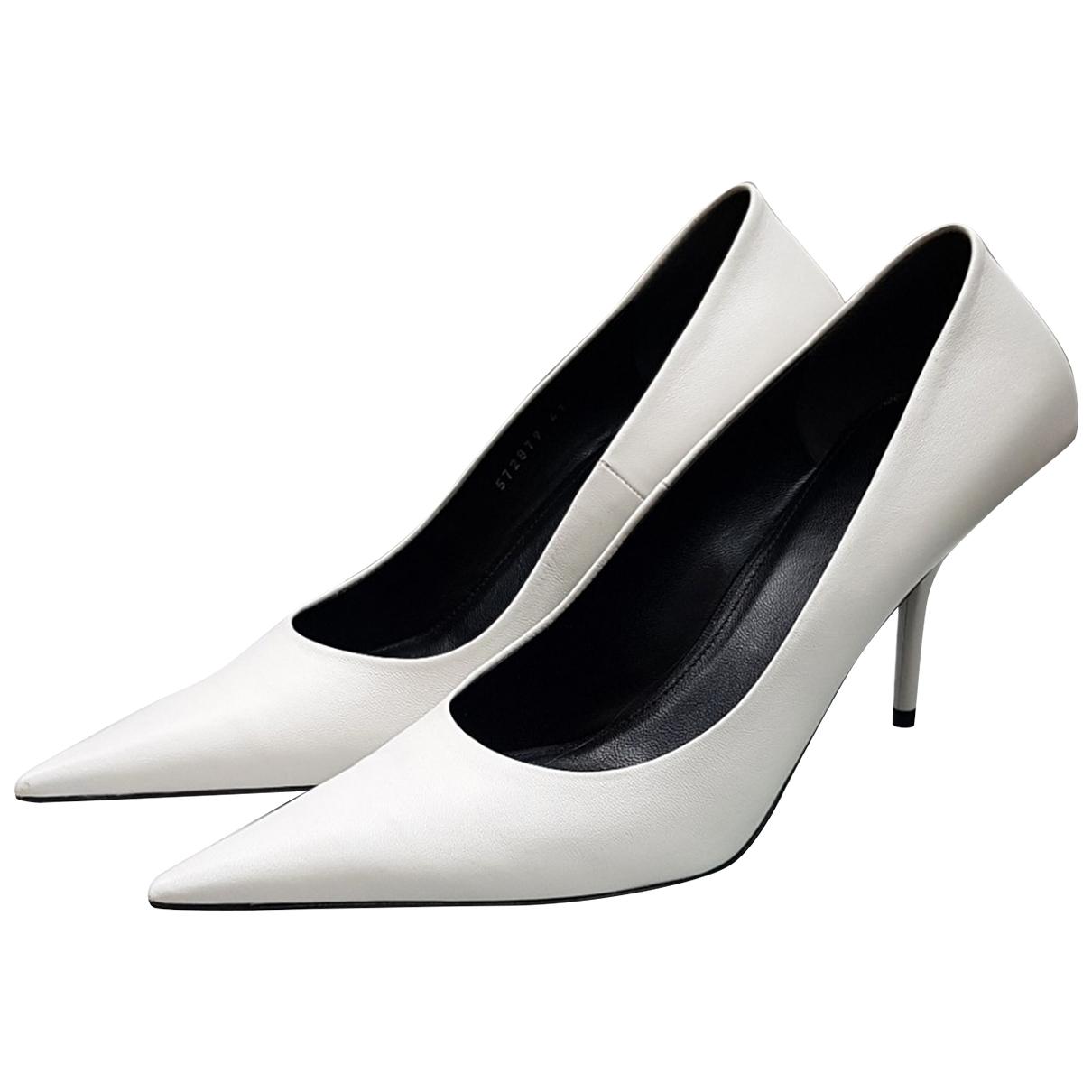 Balenciaga \N White Leather Heels for Women 41 EU