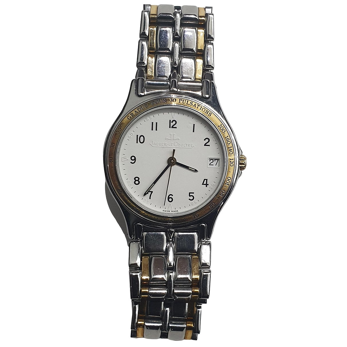 Jaeger-lecoultre Vintage Silver gold and steel watch for Men \N