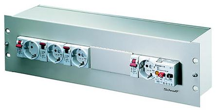 Schroff Distribution Box Box for use with 19-Inch Cabinet, 3U
