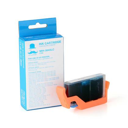 Compatible HP 564XL CB323WN cartouche d'encre cyan haute capacité - Moustache®