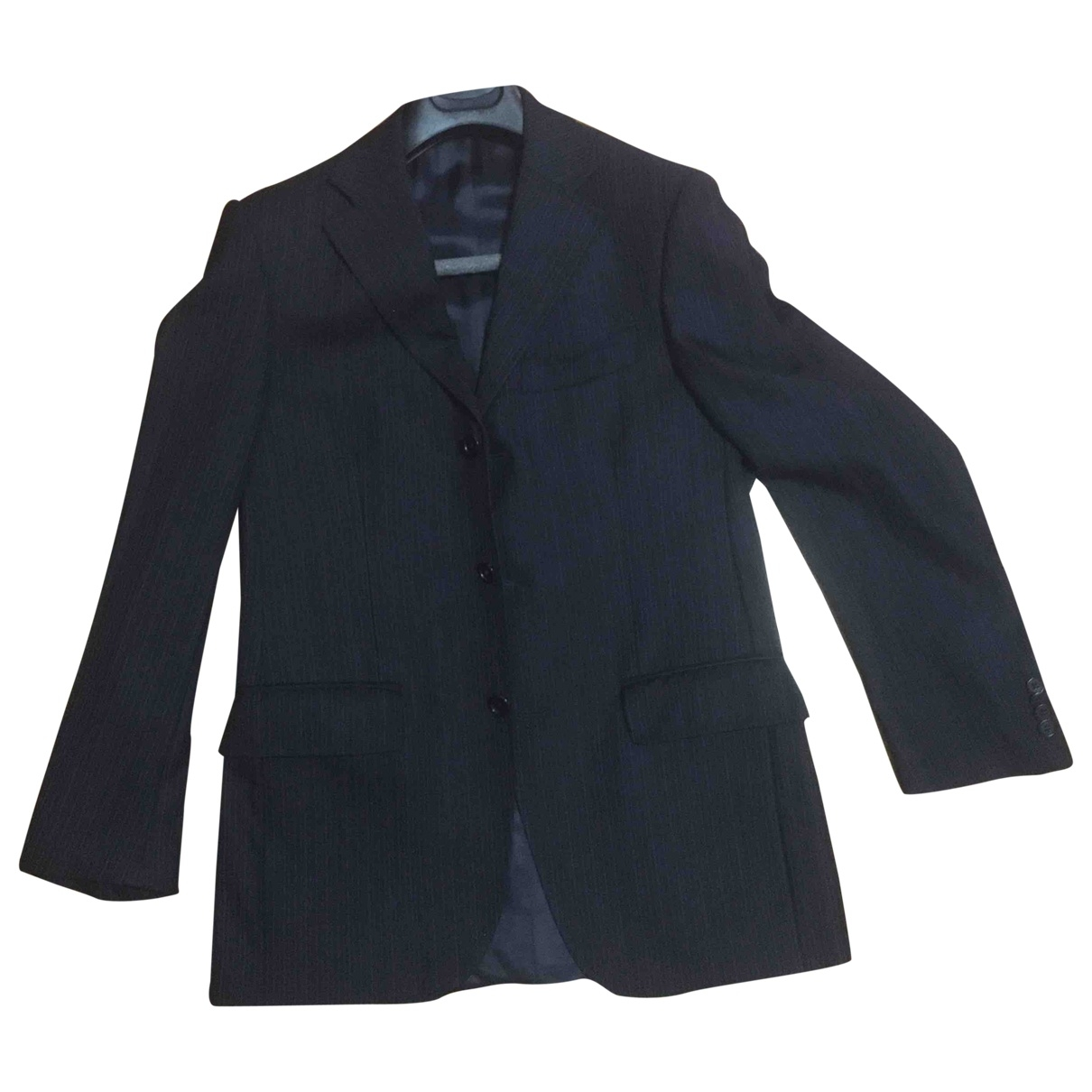 Non Signé / Unsigned \N Blue Wool jacket  for Men 46 IT