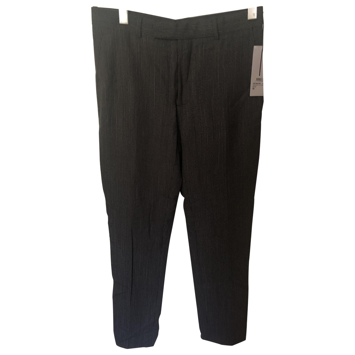 Dior Homme \N Black Wool Trousers for Men 48 IT