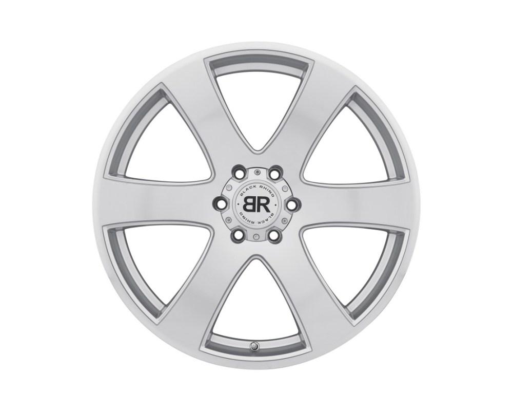 Black Rhino Haka Silver w/ Machine Cut Face Wheel 20x8.5 6x114.30 6x4.5 30mm CB76.1