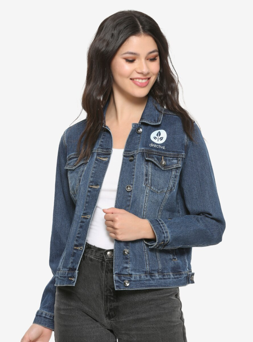 Disney Pixar WALL-E Womens Recycled Denim Jacket - BoxLunch Exclusive