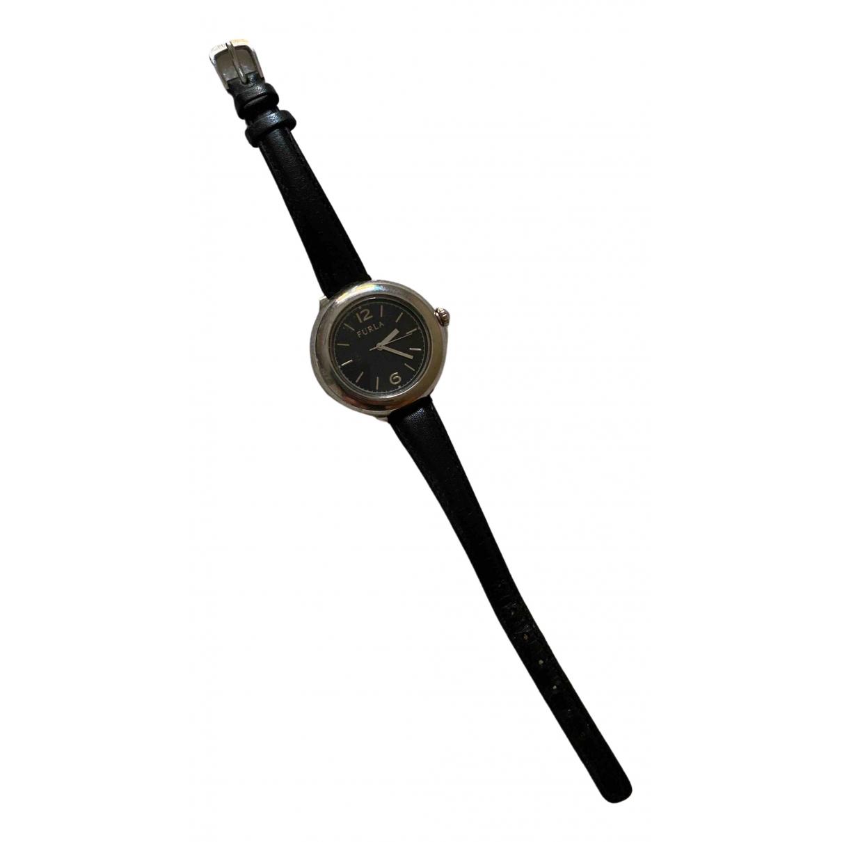 Furla \N Black Steel watch for Women \N