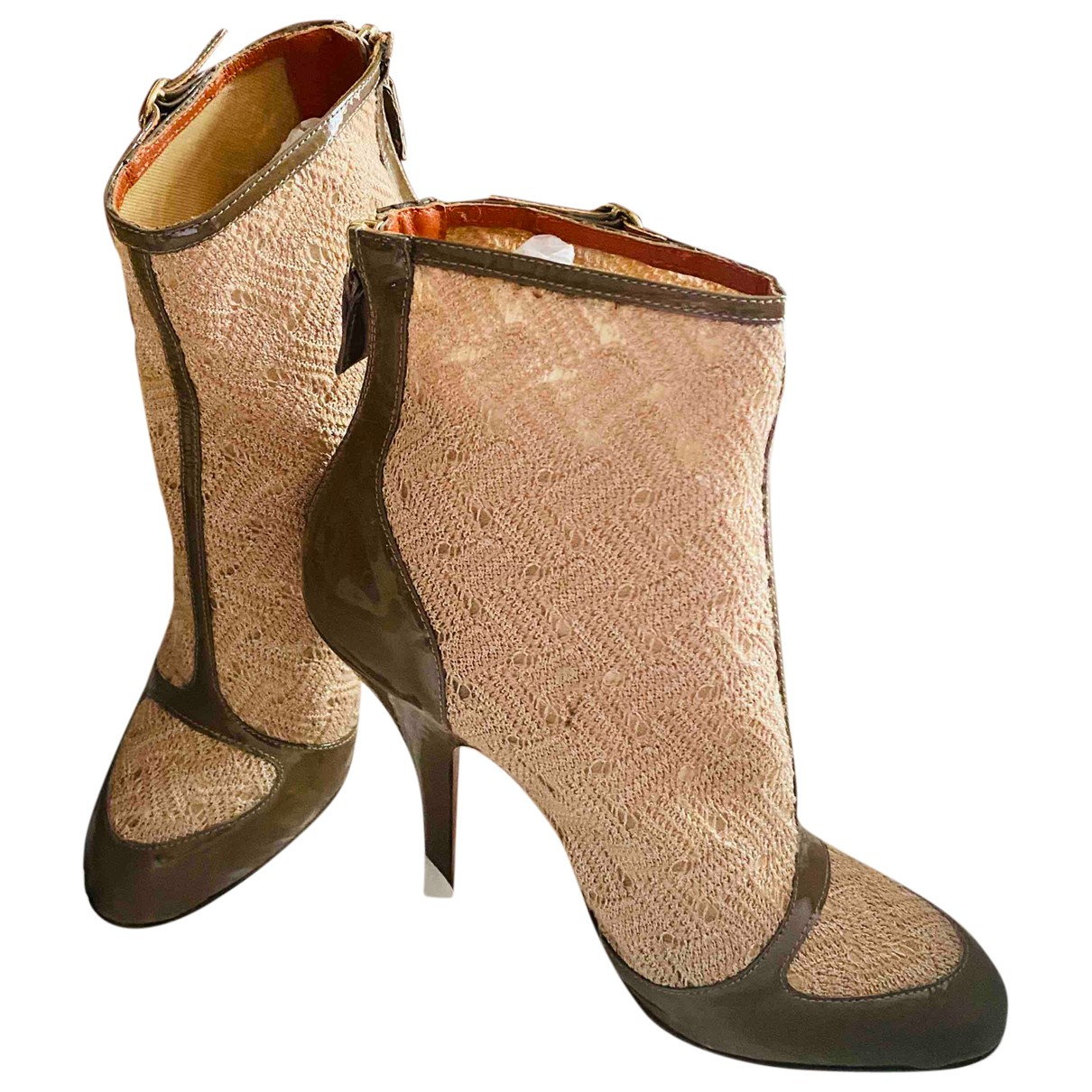 Missoni \N Brown Patent leather Ankle boots for Women 39 EU