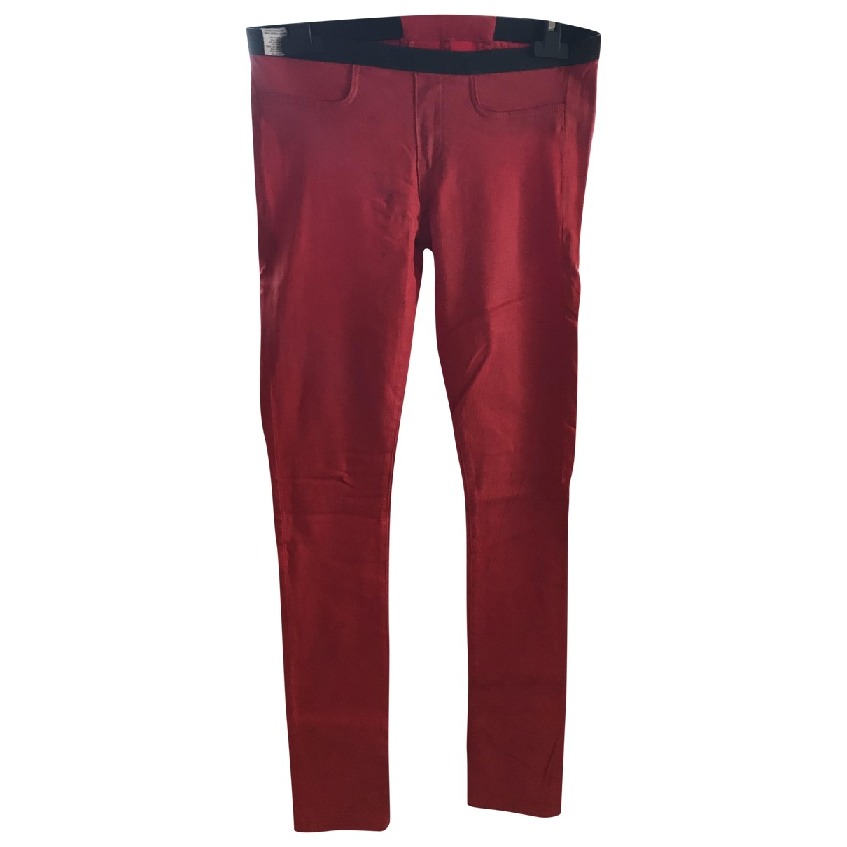 Helmut Lang \N Red Trousers for Women 28 US