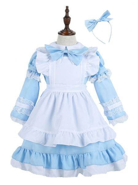 Milanoo Maid Costume Kids Halloween Little Girls Dresses Outfit