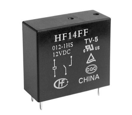 Hongfa Europe GMBH , 5V dc Coil Non-Latching Relay SPDT, 10A Switching Current PCB Mount Single Pole (50)