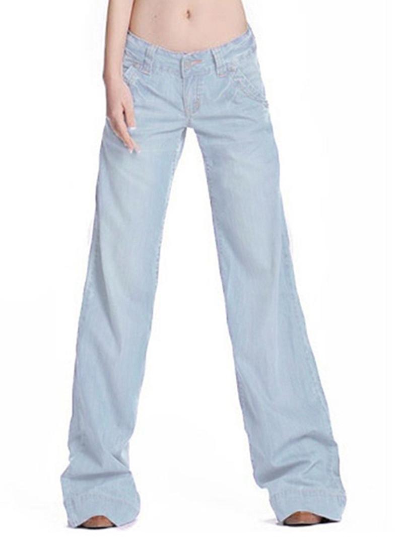 Ericdress Long Style Wide Legs Jeans