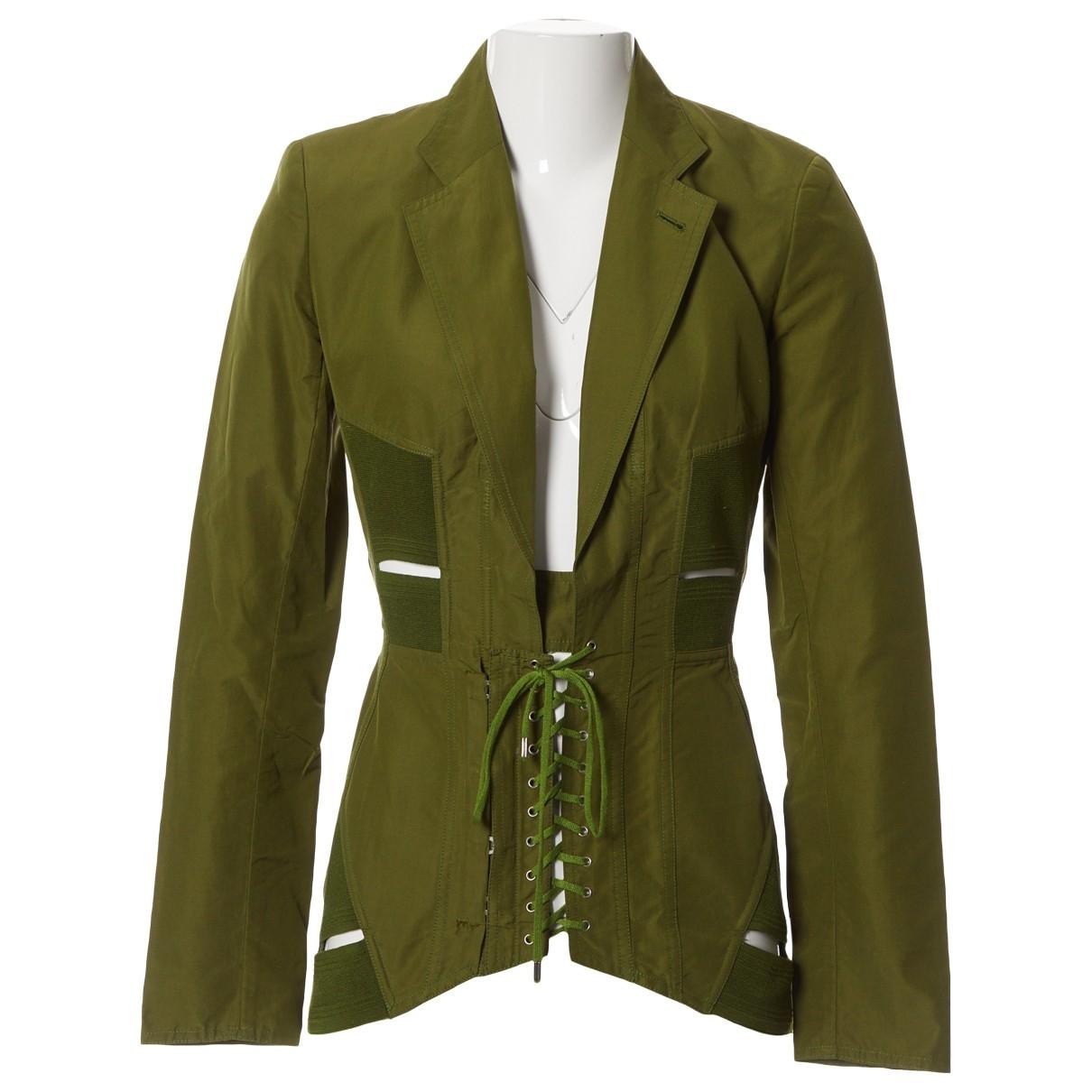 Jean Paul Gaultier \N Green Cotton jacket for Women 40 IT