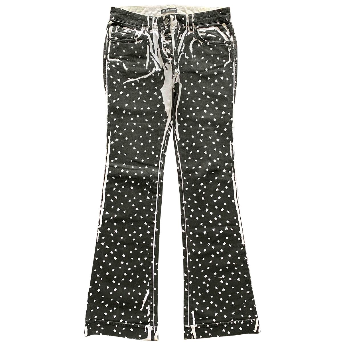 Dolce & Gabbana \N Black Cotton Jeans for Women 44 FR