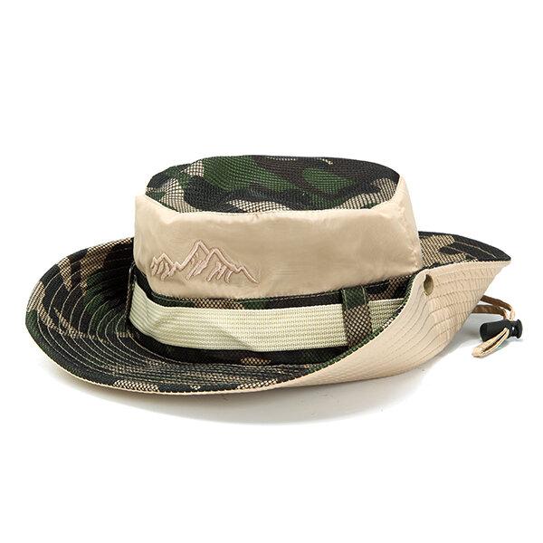Mens Summer Breathable UV Protection Visors Bucket Hat Outdoor Foldable Climbing Fisherman Hat