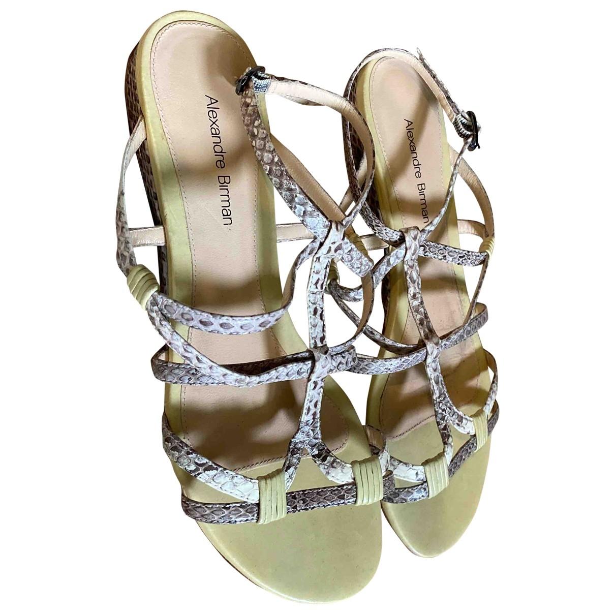 Alexandre Birman \N Green Water snake Sandals for Women 6 US