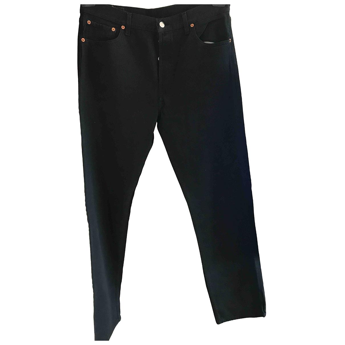 Levi's \N Black Cotton Jeans for Men 36 US