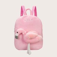 Girls Cartoon Graphic Fluffy Backpack