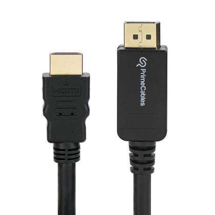 PrimeCables® Câble DisplayPort vers HDMI mâle vers mâle 6pi, noir