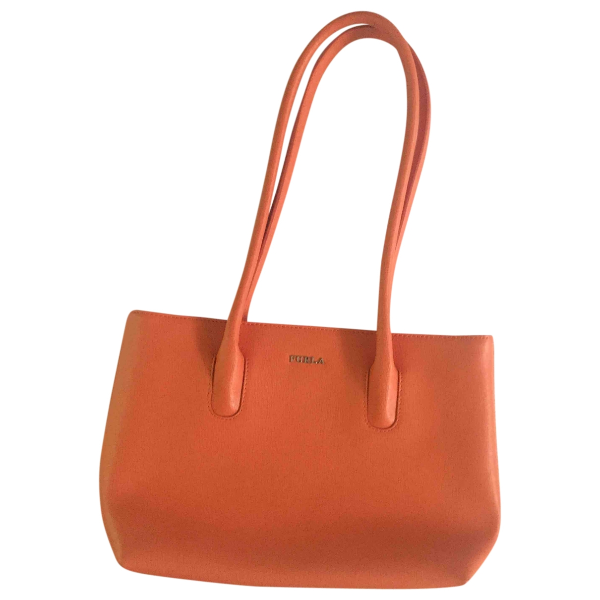 Furla \N Orange Leather handbag for Women \N