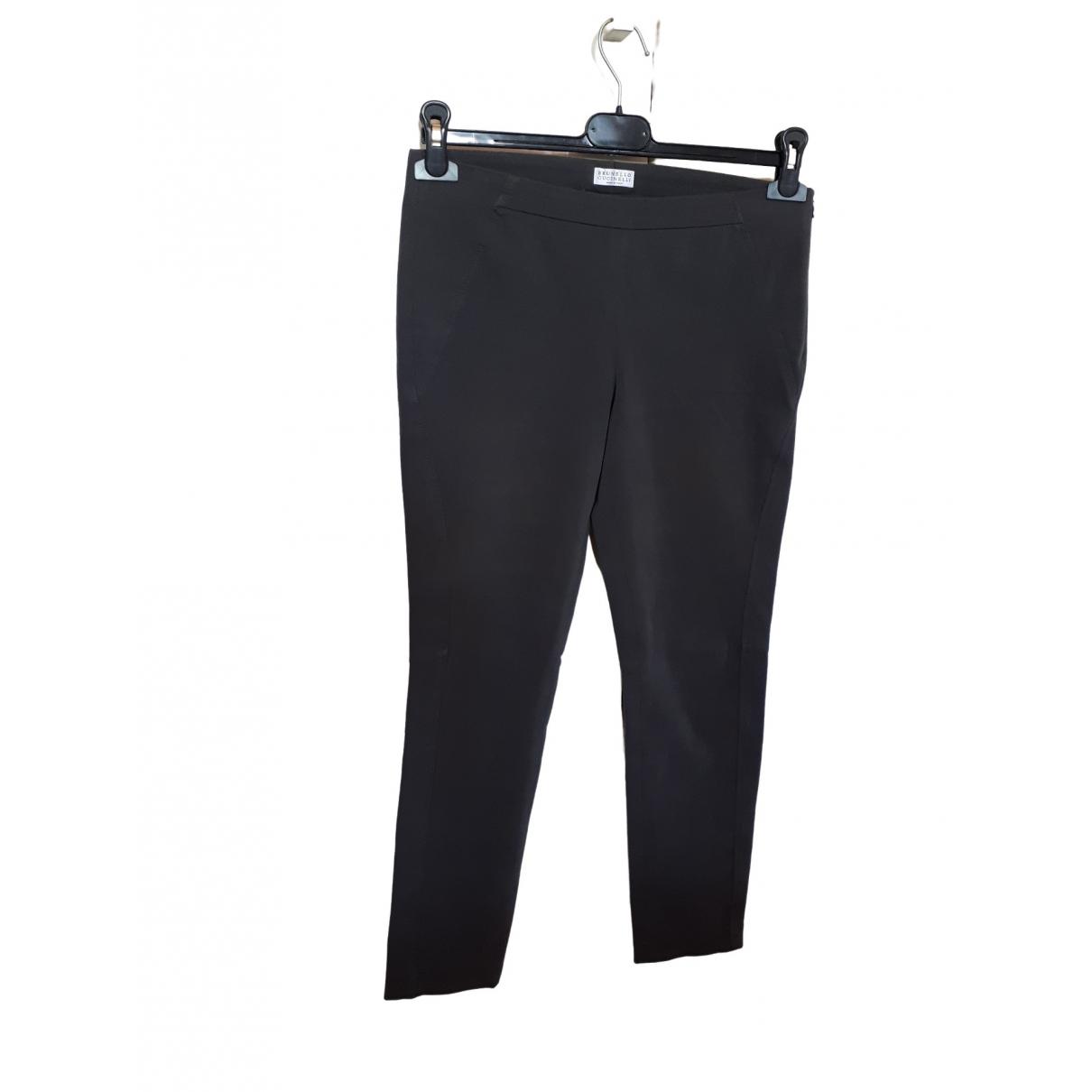 Brunello Cucinelli \N Grey Cotton Trousers for Women 40 IT