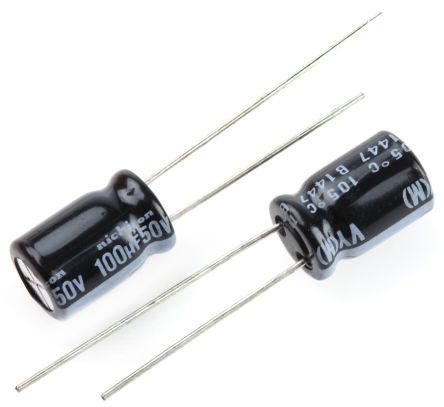 Nichicon 100μF Electrolytic Capacitor 50V dc, Through Hole - UVY1H101MPD (10)