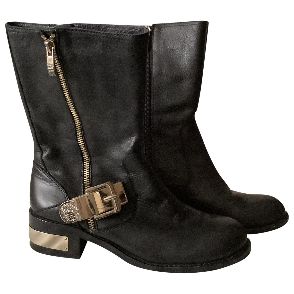 Vince Camuto \N Black Fur Ankle boots for Women 37 EU