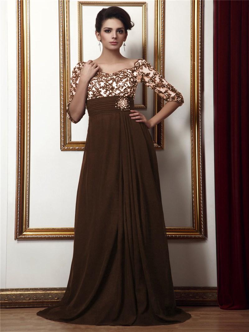 Ericdress Empire Waist Half Sleeves Mother of the Bride Dress