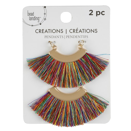 Creations Multicolor Fan Tassel Pendants By Bead Landing™ | Michaels®