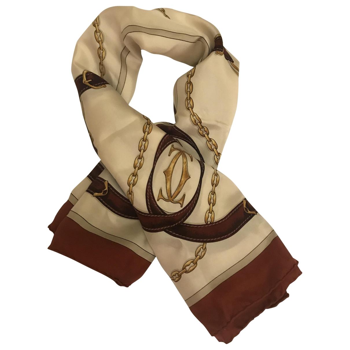 Cartier \N Burgundy Silk scarf for Women \N