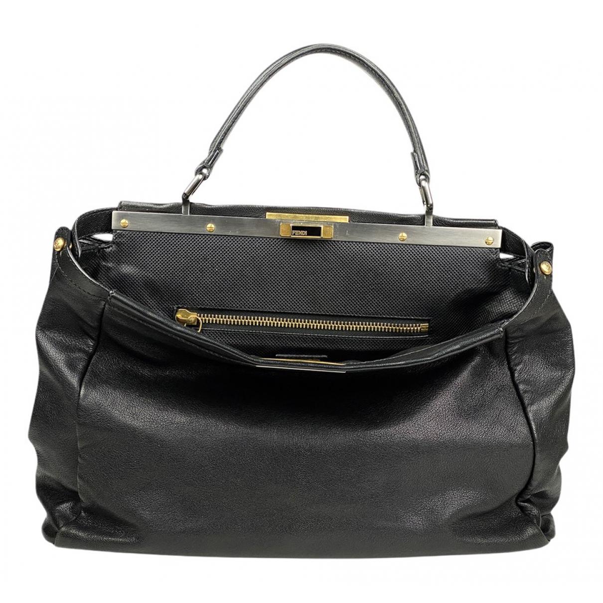 Fendi Peekaboo Black Leather handbag for Women \N