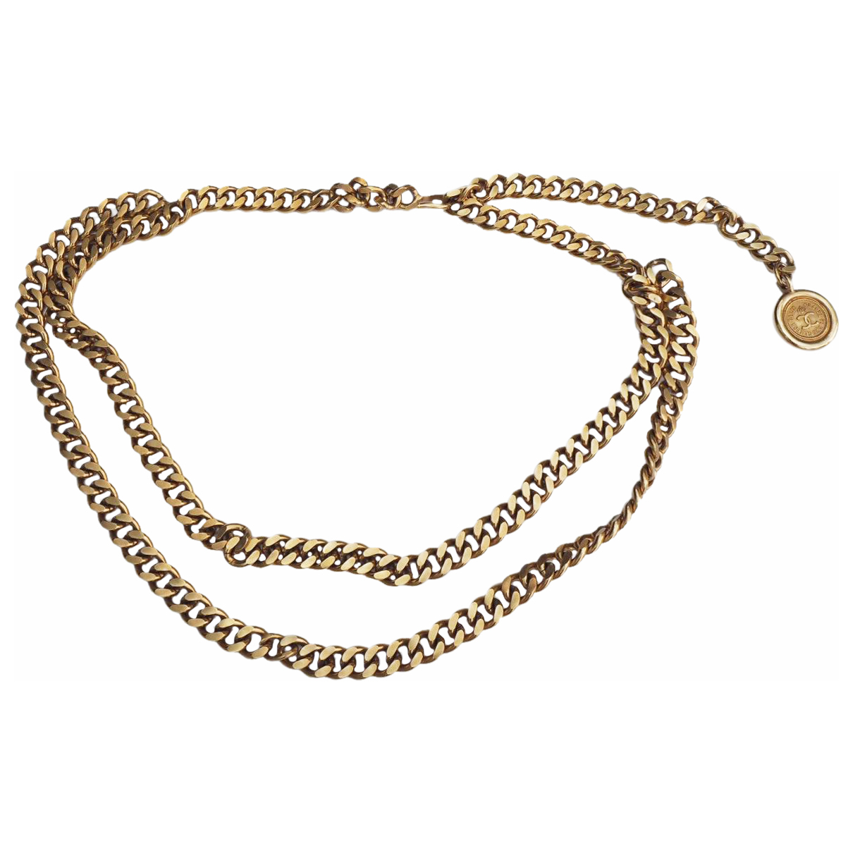 Chanel \N Gold Chain belt for Women 37 Inches