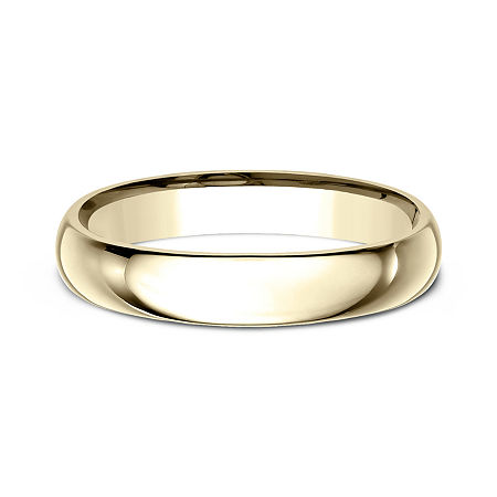 Womens 10K Yellow Gold 4MM Comfort-Fit Wedding Band, 8 1/2 , No Color Family