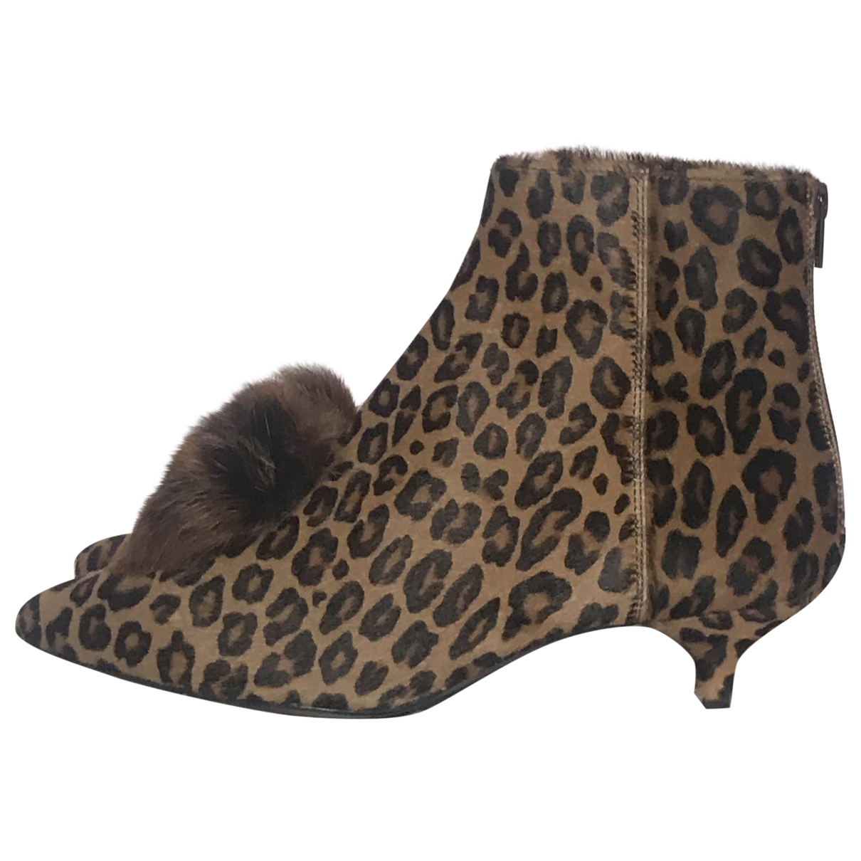 Agl \N Pony-style calfskin Ankle boots for Women 39 EU